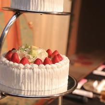 ケーキのアップ。