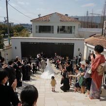 挙式後の大階段!