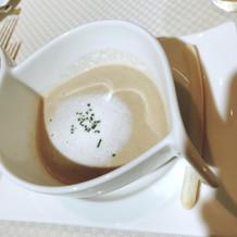 キノコが濃厚なスープです。