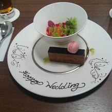 前菜とデザート