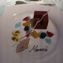 リトルマーメイドのデザート