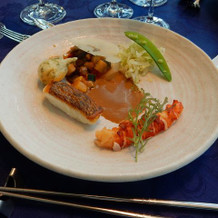 オマール海老と鯛
