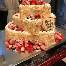 ハートの形で可愛らしいケーキに。