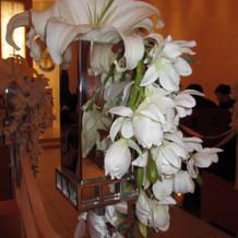 挙式会場の装花です。