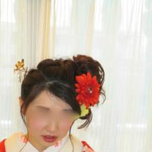 和装の髪飾り。全てプラン内。