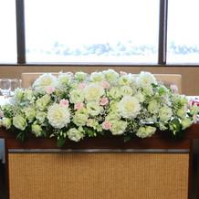 披露宴 お花