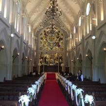 大聖堂が本当にすてきでした。