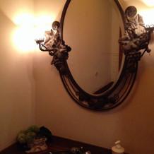 トイレの中もクラシックな雰囲気