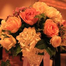 装花もボリュームがあり豪華!