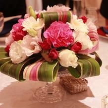 ゲストテーブルの花
