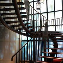 チャペルの螺旋階段