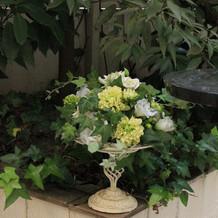 中庭の装飾