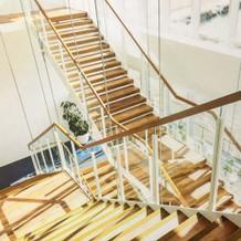 素敵な階段があります。