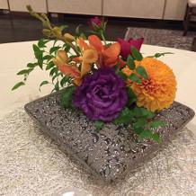 輪の雰囲気の装花
