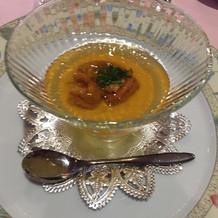 かぼちゃとウニの前菜