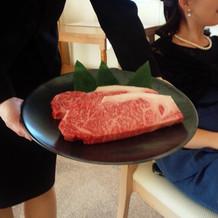 和牛のステーキ♪お代り自由!