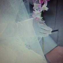 挙式で父母への感謝のお花♪