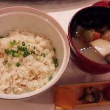 鯛飯&お味噌汁