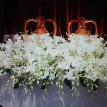 メインテーブルのお花!豪華に!