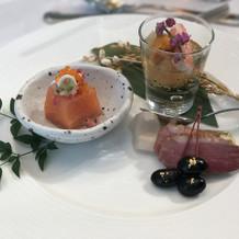 ジャポネコースの前菜