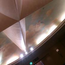 チャペルの天井 手書きの絵