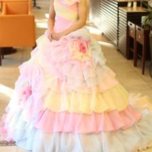 中座後のカラードレス
