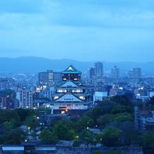 最上階の会場からの景色(夕方から夜)