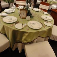 フォレストゲイトのテーブルの雰囲気