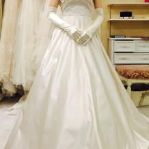 挙式で着用したドレスです!