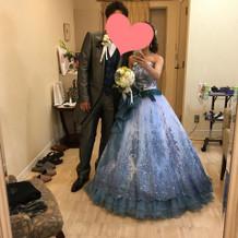 当日着用したカラードレスです。