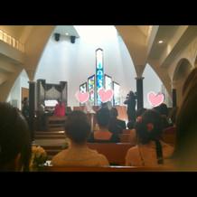 教会こじんまりとして可愛かったです。