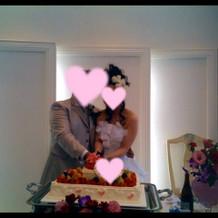 ケーキもとても可愛くて素敵でした。