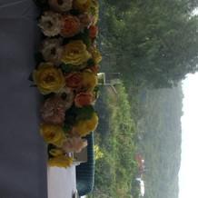 メインテーブル花