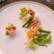 海鮮のサラダ。