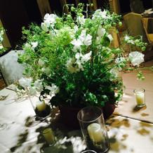 会場のお花