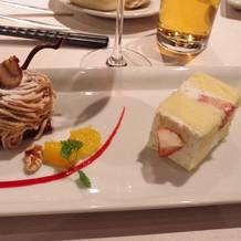 モンブランとケーキ