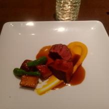 牛フィレ肉季節野菜を添えて