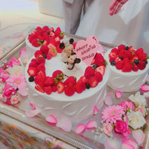 大満足のウェディングケーキ