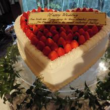 展示していたウエディングケーキ