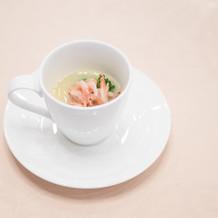 桜海老と菜の花のフラン