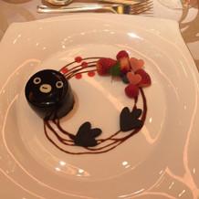 デザート2。Suicaペンギンだ!