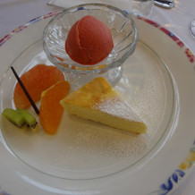 デザート、ブラッドオレンジのシャーベット