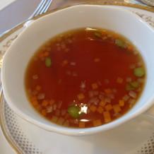 コンソメスープ 温
