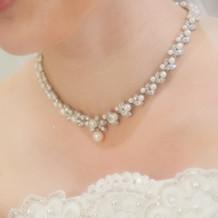 白ドレス用のネックレス