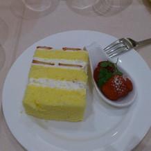 ウェディングケーキのデザート