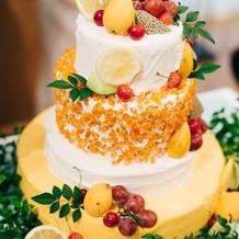 オリジナルのウェディングケーキ