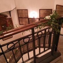 螺旋階段の上から撮影。
