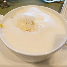 カボチャのスープ上は泡仕立て