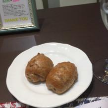 くるみパン。ふわふわで美味しかったです。