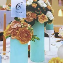 テーマカラーのテーブル